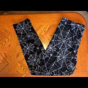 Fuzzy spiderweb leggings
